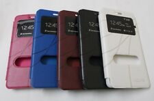 *New PU Leather Double Window Flip Cover Case for *Lenovo K3 Note,A6000 & A5000*