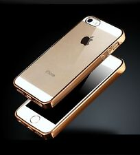 New Electroplating Transparent Silicon Back Cover Case For Apple iPhone 5 5s