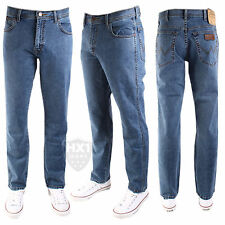Mens Wrangler Texas Stretch Straight Leg Jeans Stonewash Blue 30-48