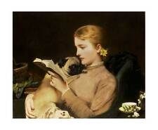 Barber - Blonde and Brunette - girl dogs fine art giclee print various sizes