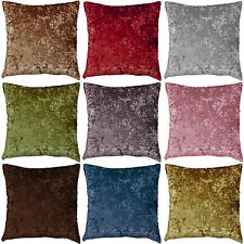 "Plain Crush Velvet Cushion Covers 22""x22"", 18""x18"" and 17""x17"" **NEW**"