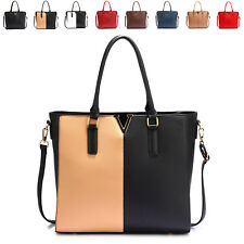 Spacious Faux Leather Ladies Designer Women Shoulder Bag Cross Body Handbag Tote