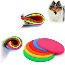Big Pet Dog Colourful Training Fetch Toy Soft Puppy Flying Disc Silicone Frisbee