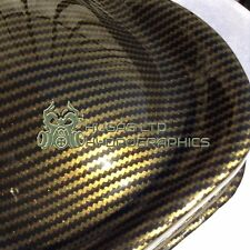 Hydro Dipping Hydrographics Water Transfer Film zig zag carbon gold HUGASLTD