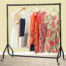 3 4 5 6 FT Heavy Duty Garment Rail Clothes Home Shop Hanging Display Rack Stand