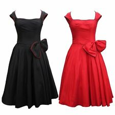 CLASSY VINTAGE 1950's ROCKABILLY STYLE SWING PARTY EVENING PROM DRESS