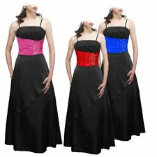 New Satin Jewel Beaded Cocktail Party Evening Prom Ball Gown Dress Size 8 - 24