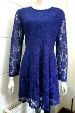 NEW Pussycat London Woven Dress - Royal Blue Size 14