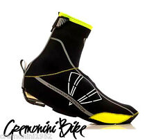 DMT copriscarpe neoprene nero giallo fluo shoecover winter yellow shoes cover
