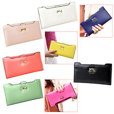 Soft Leather Women Wallet Clutch Bag PU Card Coin Change Purse Handbag BF