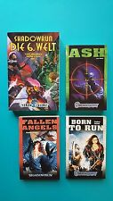 Shadowrun Fantasy&Science Fiction,die 6.Welt,ASH,Fallen Angels,Born to Run  NEU