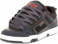 DVS Comanche Black Grey Black Red Leather Mens Skate Trainers