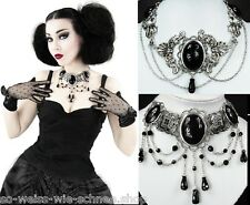 Restyle Halskette Collier Gothic Steampunk Necklace Royal Victorian Choker Edel