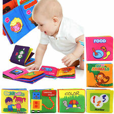 Soft Cloth Baby Learning Book Kid Child Intelligence Development Play Reading UK