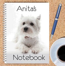 A5 & A4 PERSONALISED NOTEBOOKS, NOTE BOOK, NOTE PAD, 50 LINED OR BLANK /SCOTTY