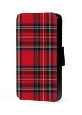 Scottish Tartan phone case pattern faux leather flip case for iphone samsung htc