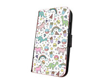 Unicorn cute phone case collage mini faux leather wallet case for iphone samsung