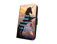 Unicorn silhouette quote phone case faux leather wallet case for iphone samsung