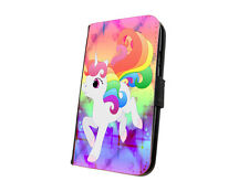 Unicorn case cute cartoon design faux leather flip phone case for iphone samsung