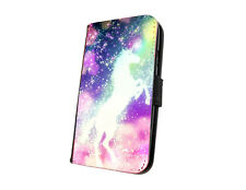 Unicorn sparkle design phone case faux leather flip case for iphone samsung HTC