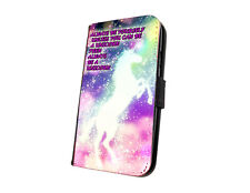 Unicorn sparkle quote phone case faux leather wallet case for iphone samsung htc