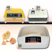 New 56 Eggs Digital Fully Automatic Incubator Turner Poultry Chicken Duck Bird