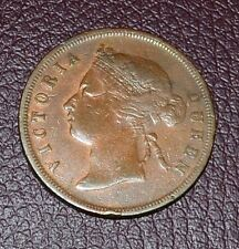 1890- Straits Settlement-Victoria Queen 1 One  Cent # F117