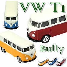 VW T1 Bully 1:60 Welly Bus Modellauto Metall Spritzguß Auto car coche voiture
