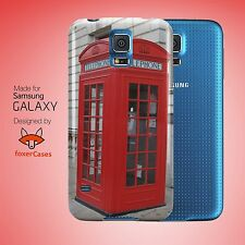 Vintage Retro Fun British Telephone Booth Case Cover for Samsung Galaxy