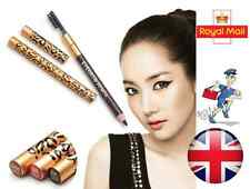 Waterproof Leopard Eyebrow Pencil With Brush in Black or Brown Colour