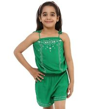 Oxolloxo Girls Viscose Green Playsuit (S16053GOV001)