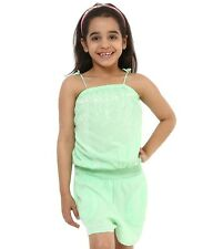 Oxolloxo Girls Viscose Casual Green Playsuit (S16053GOV004)