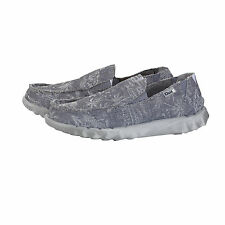 Hey Dude Farty Funk Grey Palm Men's Canvas Slip On Casual Shoes - All Sizes