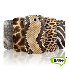 Animal Print Snap on Hard Back Phone Case Skin / Fur Samsung Galaxy S3 Cover
