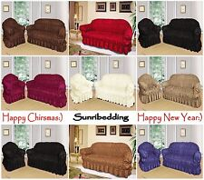 JACQUARD SOFA ARM CHAIR COVERS 1,2,3 SEATER UNIVERSAL FIT PET PROTECTOR THROW