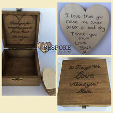 Personalised Things We Love About You Box Wooden Mum Dad Nan Sis Bro Love Gift