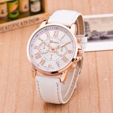 2016 New Fashion Geneva Leather Strap Quartz Male Female Analog Wristwatches