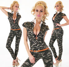 Sexy Women's Military Denim Jeans Playsuit Jumpsuit Overall Skinny Slim G 632
