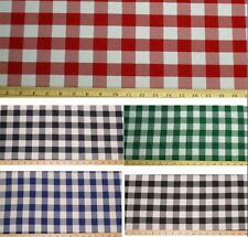 """12 Yards Checkered Fabric 60"""" Wide Gingham Buffalo Check Tablecloth Fabric SALE*"""