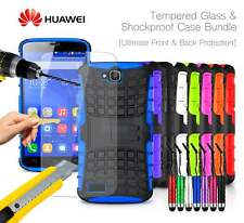 Huawei Honor Holly Dual SIM - Shockproof Tough Case, Mini Pen & Tempered GLASS