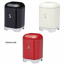 KitchenCraft Lovello Sugar Storage Tins in Red, Black or Cream