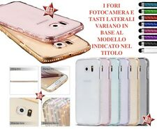 COVER CUSTODIA HYBRID BUMPER STRASS per APPLE IPHONE 6 PLUS 5.5  PELLICOLA VETRO