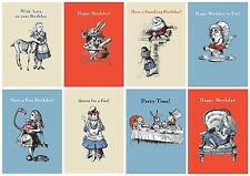 Vintage Style Lewis Carroll Alice In Wonderland Illustration Print Greeting Card