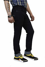 Super-X Black Strechable Skinny Fit Jeans For Men