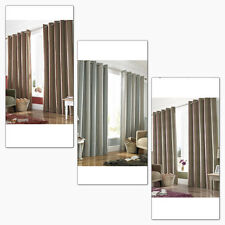 Downton Striped Heavy Eyelet / Ring Top Lined Ready Made Curtains Thick Warm New