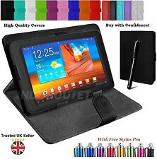 "Universal Folio Leather Case Cover For Android Tablet PC 7"" 9.7"" 10.1"" + Pen"