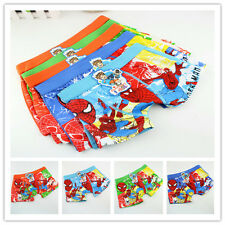4Pcs Boxer Boy Cotton Underwear Cartoon Children Panties Shorts Age 3-10 Years