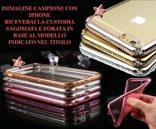 COVER CASE BUMPER DIAMOND per APPLE IPHONE 5 SE 5SE  + PELLICOLA VETRO
