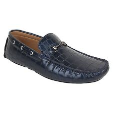 Guava Reptile textured Loafers - Blue