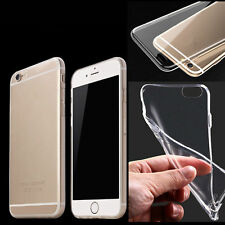 Ultra Thin Soft Silicon Transparent Back Case Cover For Apple Iphone 4 5 5C 6 SE